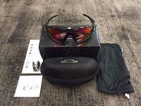 Oakley OO9290-08 Jawbreaker Black Ink / OO Red Iridium Polarized Sunglasses NEW