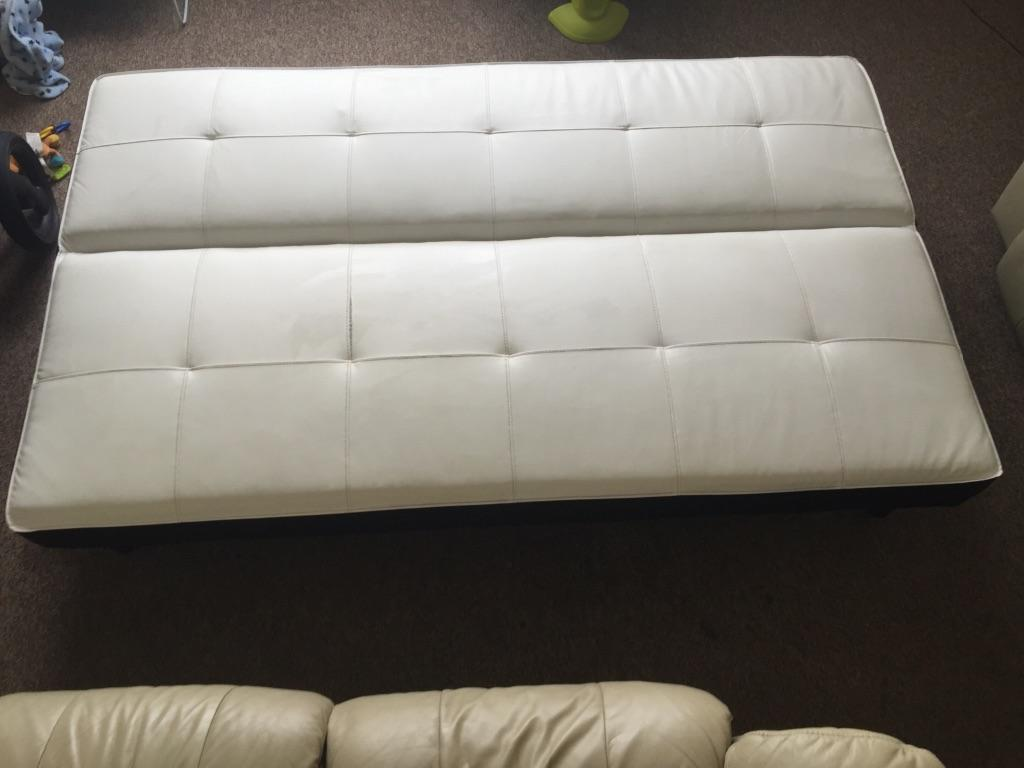 Faux leather 3 seater sofa bed in crediton devon gumtree for Sofa bed 3 seater leather