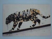 Banksy art canvas - Tiger. Excellent condition