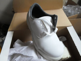joblot 63x BEAVER Safety White work boot + steel toe cap wholesale clearance stock