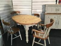 LOVELY FARMHOUSE TABLE & CHAIRS IN GREY