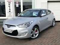 2012 12 Hyundai Veloster 1.6 GDi 138bhp~VERY LOW MILEAGE WITH FSH+2KEYS~