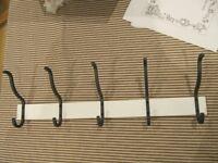 IKEA towel rack with 5 hooks. Model: Hjalmaren, white