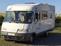 Hymer B-Classic 584 A Class 3 berth motorhome with drop down double bed
