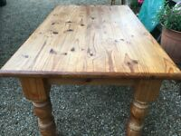 Solid Top Quality Pine Dining Table - Legs Come off for Easy Access