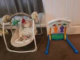 Baby swing and gym toy