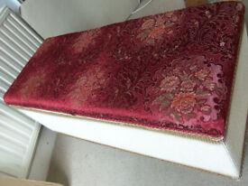 Vintage blanket box lloyd loom Sirrom style 90cm X 38cm Height 45cm