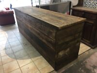 Solid Wooden Rustic Counter Brand New