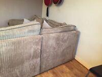 Corner sofa ready to go 1st feb