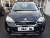 SKODA CitiGo. 5 door, 1.0l 2013 Greentec Elegance. Very Low mileage in pearlescent deep black