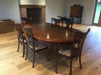 Extendable dining room table & 6 chairs made in France.