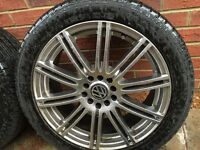 "Alloy wheels and tyres 17"" VW Golf MK5 / Audi A3"