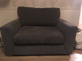Large grey armchair