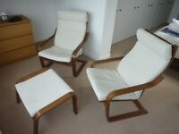 IKEA Chairs and Foot Stool
