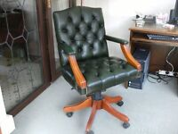 Leather reproduction office/desk chair