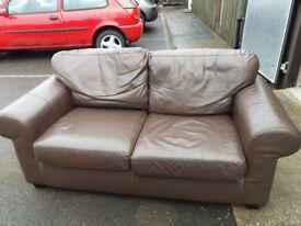 Ikea Ektorp 2 seater leather sofa
