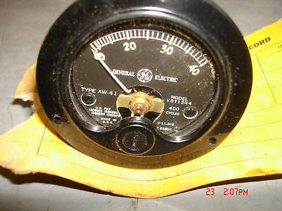 Vintage Ac Volt Panel Meter 0-40 Volt 400 Cyc 2 Inch