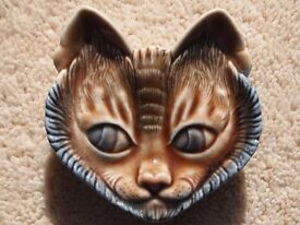 Wade Porcelain Siamese Cat face pin dish