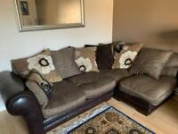 DFS Corner, 2 Seater and Footstool
