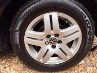 "Vw Golf alloys with good tyres 15"""