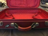 Retro red suitcase