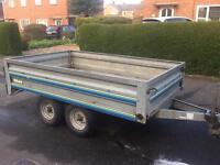 HUGE Trelgo twin axle trailer (both ends drop)
