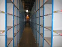 100 bays of dexion impex industrial shelving ( storage , pallet racking )