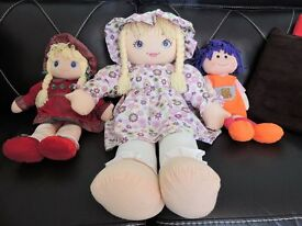 Three Very Pretty Rag Dolls
