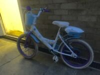 "Girls Frozen bike bicycle 16"" 5-7 years"