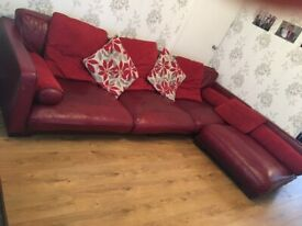 Italian Leather Corner Sofa (left or right)