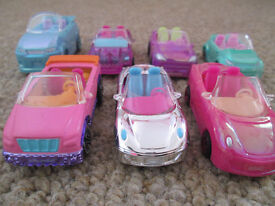 SMALL POLLY POCKET CARS X7 - EXC. COND