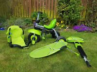 Smart trike in green great condition hardly used and always stored in garage.