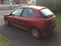 Peugeot 206 manual 1.4 L, 5 door, A/C, Petrol,