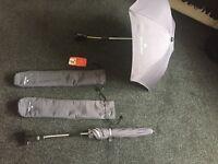 2 Maclaren parasols grey