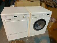 Miele washing machine and condenser dryer