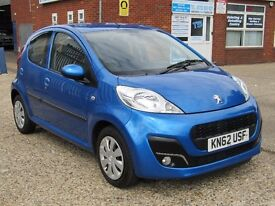 Peugeot 107 1.0 12v Active 5dr Bluetooth,aux,low mileage