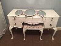 White dressing table by Wrighton furniture