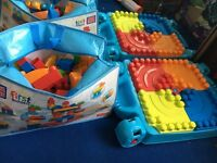 Mega blocks table and blocks.