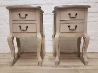 Pair Of Queen Anne Style Bedside Cabinets (DELIVERY AVAILABLE)