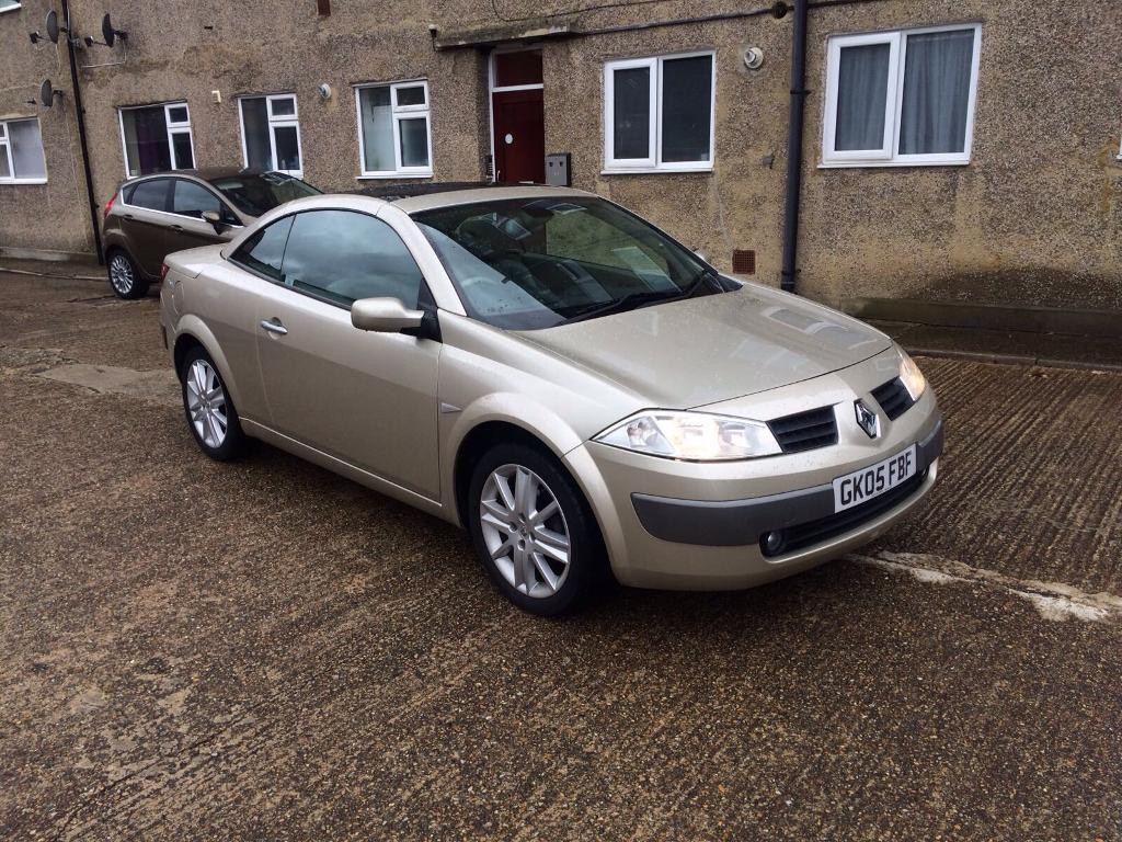 2005. Renault megane. Convertible 1900cc turbo. Diesel 88.000 miles. Top spec car