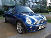 2007 MINI CONVERTIBLE MANUAL PETROL,ONLY 45,000 MILE,HPI CLEAR,2 KEYS,FULL SERVICE,3 MONTHS WARRANTY