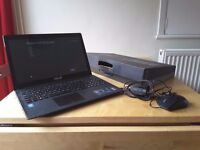 Asus F553m laptop hardley used, windows 8, HDD 1TB, 3x3.0 usb ports, memory 4GB