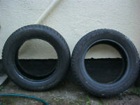 Two winter tyres