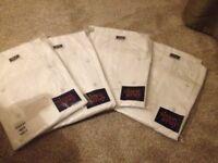 4 x White chefs jackets brand new