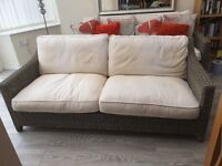 Excellent Condition - Marks & Spencer Rattan Conservatory Settee - Grab a Bargain!!