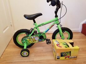 """KIDS 12"""" HALFORDS MARVIN THE MONKEY BIKE AND MATCHING HELMET"""
