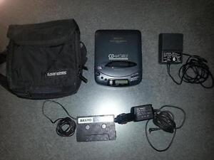 Sanyo Mobile Portable Car CD player & accessories