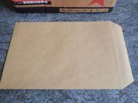 C5 brown manilla pocket envelopes (no window) - 500 press seal envelopes