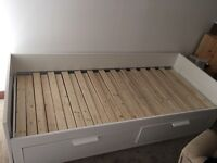 IKEA BRIMNES Day-bed frame with 2 drawers