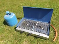 Campinggaz Camping Chef Double Gas Burner complete with 2.75Kg Gas bottle and Regulator
